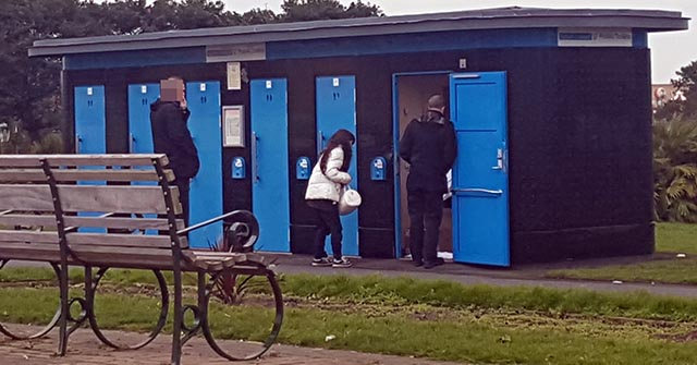 Officers from Merseyside Police today removed a couple who were living in a Promenade toilet.    Acting on a tip off the officers got the couple to open the toilet door. Once the door was open the couple were asked to leave.They had been using cardboard and old blankets to keep warm.    After...