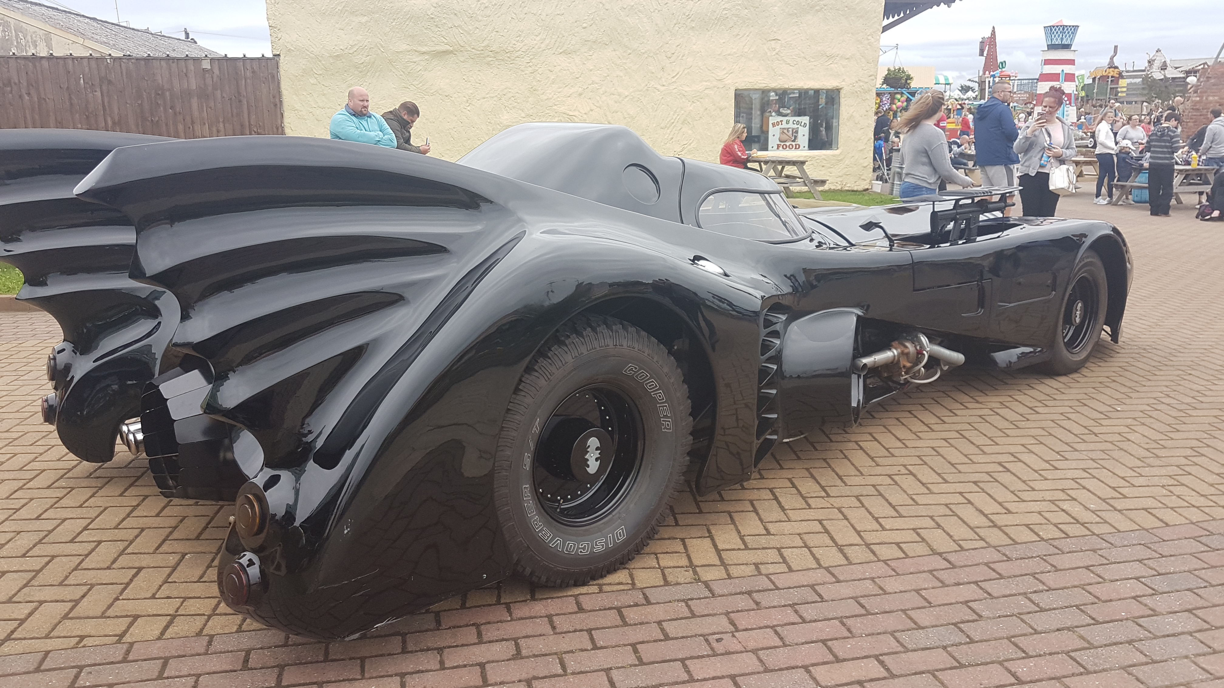 As part of Superhero day at Southport Pleasureland the Batmobile flew in from Gotham City. Children dressed up as their favourite comic book hero for the day.    The fun continues tomorrow with Comic Con.    For those that are new to the concept, comic-con is short for comic convention, a gathering...